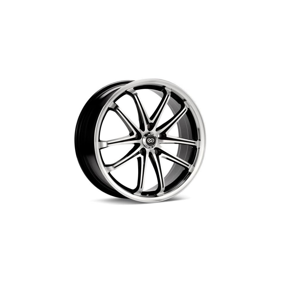17x7 Enkei G5 (Black / Machined) Wheels/Rims 5x100 (445 770 8045BKM)
