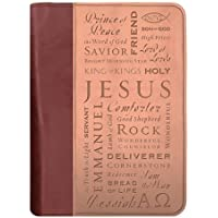 Duo-Tone Names of Jesus Med Book and Bible Cover