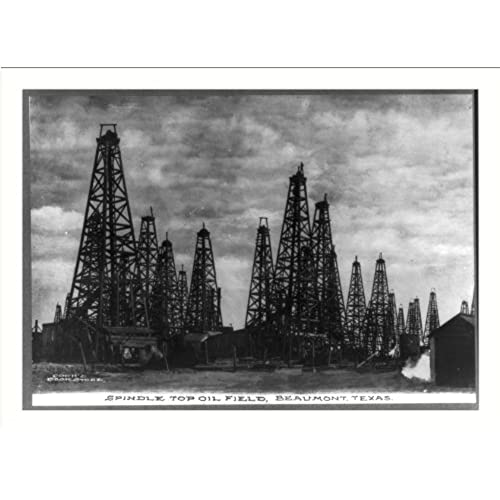 Oilfield gifts amazon historic print l texas beaumont spindle top oil field reheart Image collections