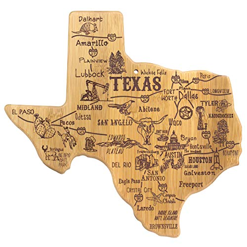 Totally Bamboo Texas State Destination Bamboo Serving and Cutting Board -