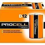 Duracell Procell Size D Alkaline Battery -- 72 per case.