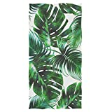 Wamika Tropical Palm Leaves Extra Large Hand Towels Jungle Floral Ultra Soft Bath Towel Highly Absorbent Multipurpose Bathroom Towel for Hand,Face,Gym and Spa,16x30 in