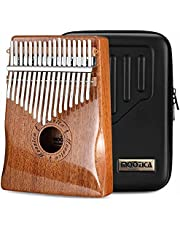 MOOZICA Kalimba duimpiano met 17 toetsen, massief mahoniehout, professionele Kalimba Marimba met hoogglans afwerking, muziekinstrument, cadeau