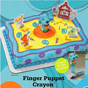 blues clues cakes finger puppet crayon licensed re usable cake