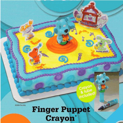 Surprising Blues Clues Cakes Finger Puppet Crayon Licensed Re Usable Cake Personalised Birthday Cards Fashionlily Jamesorg
