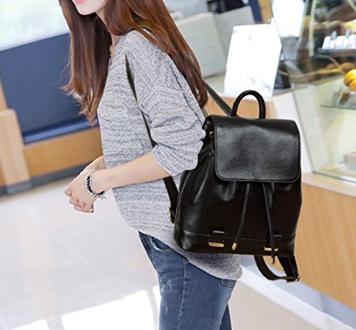 European Fashion Travel American And Backpacks Black Gifts Leather Birthday Bags Outdoor Handbags Women Backpacks 8gXqff