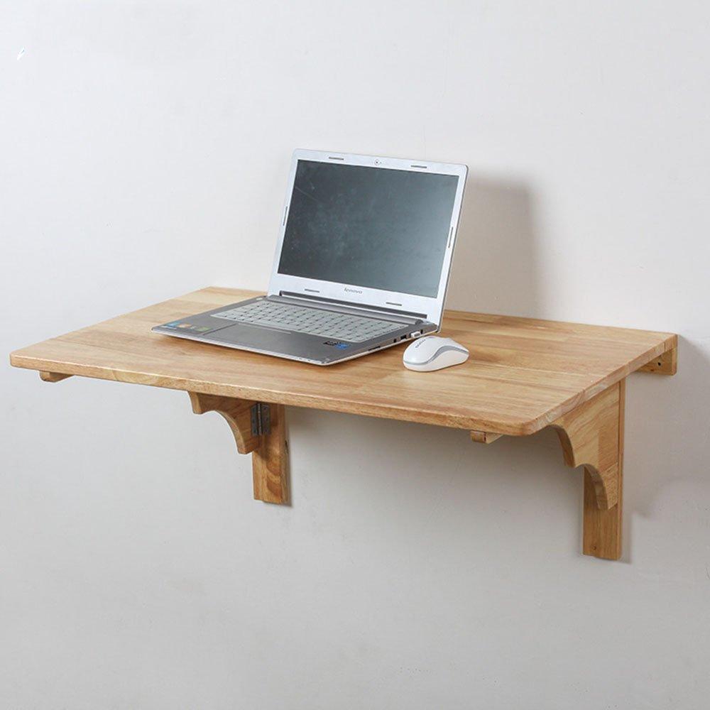 XIAOLIN ソリッドウォールマウントテーブル折りたたみダイニングテーブルコンピュータデスク学習テーブルサイズオプションのスタディルーム、ベッドルーム、バスルーム、キッチンは折り畳みテーブルに置くことができます ( 色 : ウッド うっど , サイズ さいず : L60cmW40cm ) B07BKPB5GJ L60cmW40cm ウッド うっど ウッド うっど L60cmW40cm