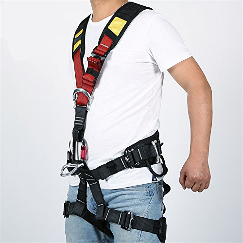 Full Body Safety Harness Outdoor Climbing Momentum Harness for Mountaineering Outward Band Expanding Training Caving Rock Climbing Rappelling Equip