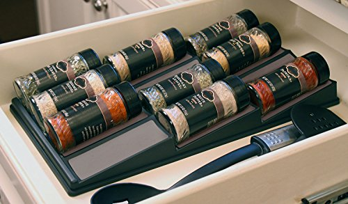 SPICEdock - In-drawer spice bottle storage / Spice rack / Spice Tray