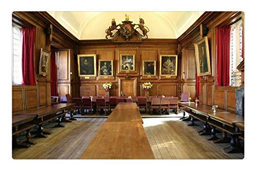 Tree26 Indoor Floor Rug/Mat (23.6 x 15.7 Inch) - Oxford England Hall UK Architecture Oxfordshire