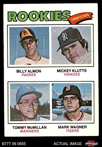 1977 Topps # 489 Rookie Pitchers Len Barker/Randy Lerch/Greg Minton/Mike Overy Rangers/Phillies/Giants/Angels (Baseball Card) Dean's Cards 6 - EX/MT - Pitcher Minton