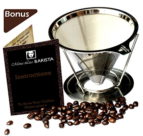 Mona Lisa BARISTA Pour Over Coffee Dripper - Stainless Steel  (Size: 1-2 Cup)