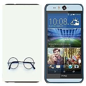 - Glasses - - Cubierta del caso de impacto con el patr??n Art Designs FOR HTC Desire EYE M910x Queen Pattern