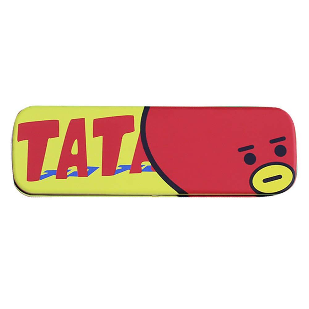 Chutoral Kpop BTS Bangtan Boys Pen Pencil Case, Large Capacity Stationery Bag Makeup Cosmetic Bag for Office School Student Boys Girls(TATA)