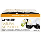 ATTITUDE Natural Air Purifier with Activated Carbon Filter | Naturally Traps Air Polluants and Contaminants, Neutralizes Stubborn Odors | Passion Fruit Hypoallergenic Fragrance (8 oz)