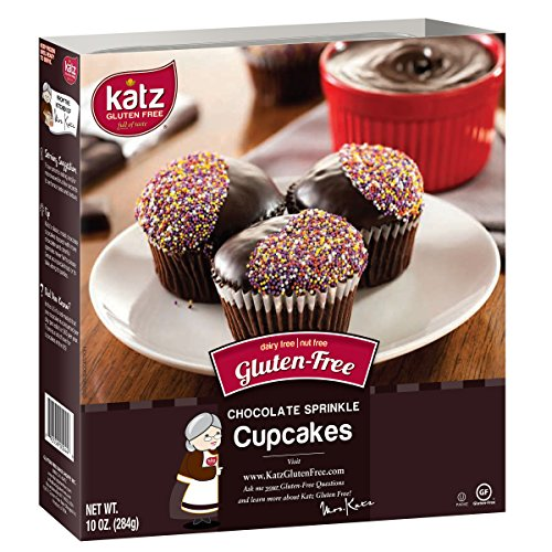 (Katz Gluten Free Chocolate Frosted Cupcakes, 10 Ounce, Certified Gluten Free - Kosher - Dairy & Nut free - (Pack of 1))