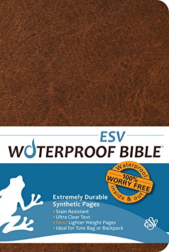 Price comparison product image Waterproof Bible - ESV - Brown