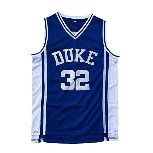 No.32 Laettner Jersey Basketball Jersey Sports Embroidery Men's Jersey Blue XL