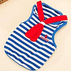 Dog Striped Clothes Pet T-shirt For Small Dog Vest Puppy Summer Costume