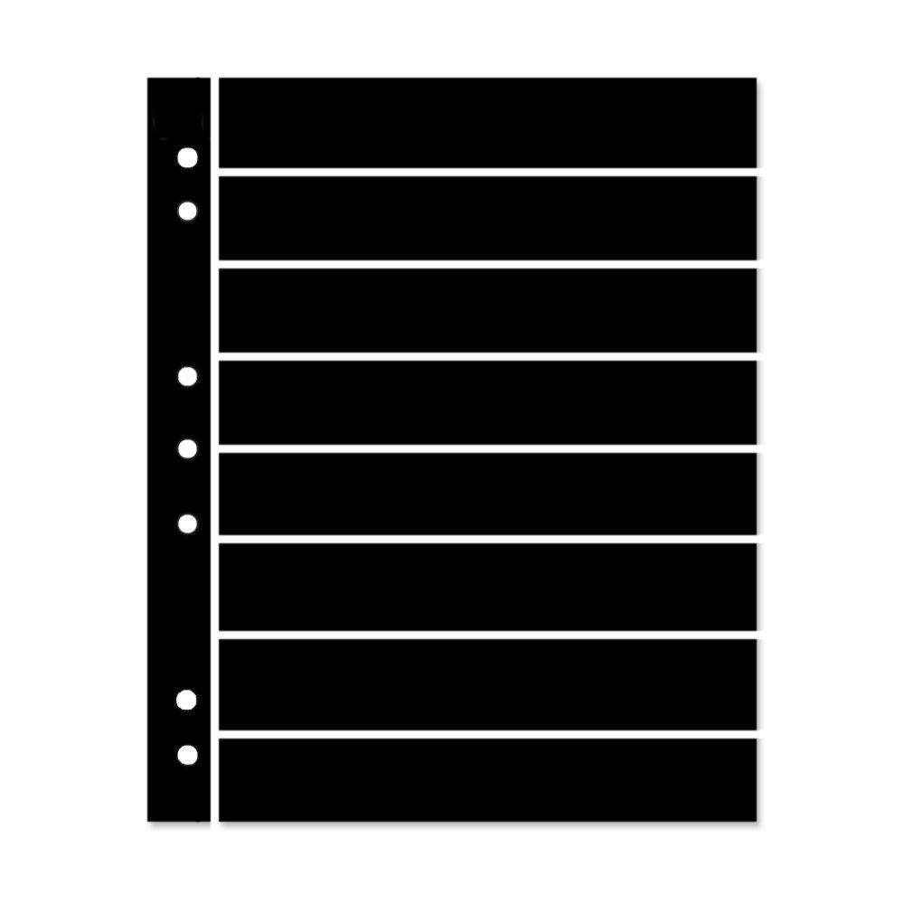 8 strip Double sided Hagner Original stamp stocksheets