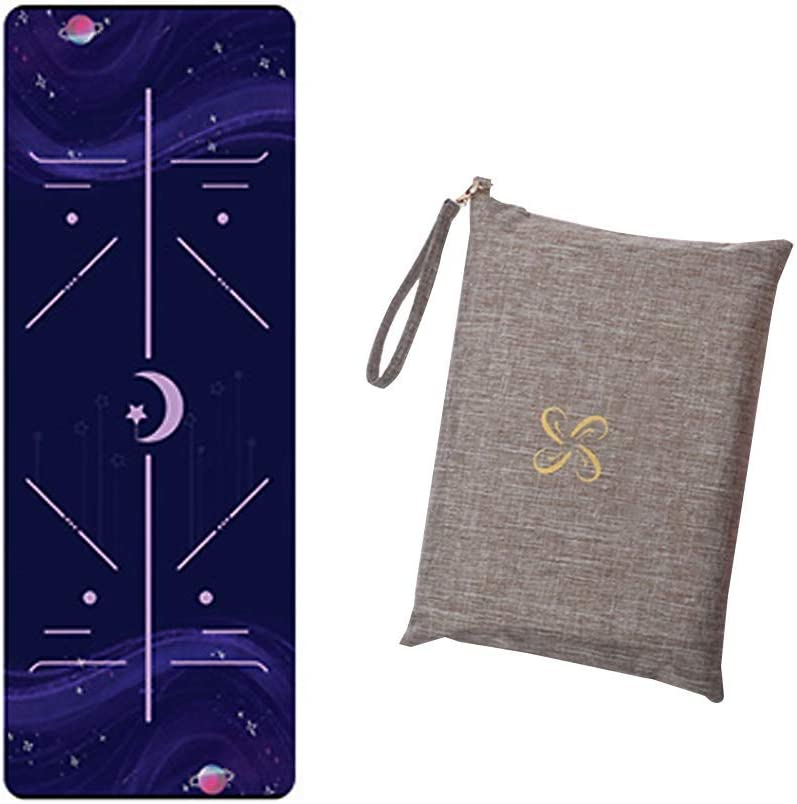 Famyfamy Yoga Tapis Anti-d/érapant Imprim/é Yoga Tapis Portable Ultra Mince Pliable Tapis Voyage Yoga Tapis avec Sac pour Yoga Pilates