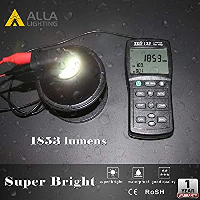 Alla Lighting 3800lm Xtreme Super Bright H16 LED Bulbs Fog Light High Illumination ETI 56-SMD LED H16 Bulb H11 H8 H16 Fog Lights Lamp Replacement - 3000K Amber Yellow: Automotive