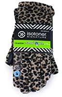 Isotoner Leopard Print smarTouch Stretch Fleece Gloves