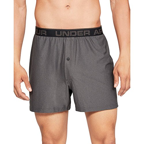 - Under Armour Men's Tech Mesh Boxer, Charcoal Medium Heat (019)/Black, X-Large