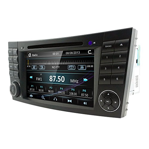 hizpo Car Stereo DVD Player 7 Inch in Dash Autoradio 2 Din Head Unit GPS Navigation with DVD Player for Mercedes-Benz W219 with SWC Buttons