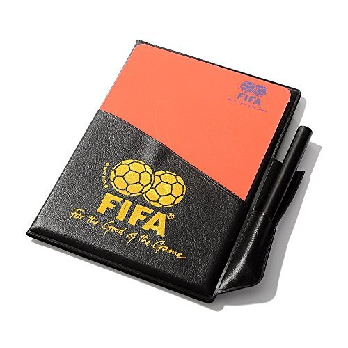 TIMEOW Soccer Referee Red Card Football Yellow Card with Wallet Pencil Record Paper for FIFA Judge Fluorescent (Fluorescent Card)
