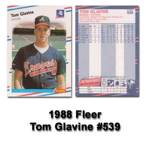 1988 Fleer Baseball Glavine Rookie product image