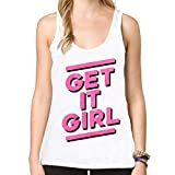 New hipster women vest Get It girl letter tanks harajuku fashion female Tops