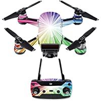 Skin for DJI Spark Mini Drone Combo - Rainbow Explosion| MightySkins Protective, Durable, and Unique Vinyl Decal wrap cover | Easy To Apply, Remove, and Change Styles | Made in the USA