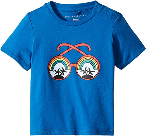 Stella McCartney Kids Baby Boys' chuckle Rainbow Sunglasses Tee, Blue, - Sunglasses Stella