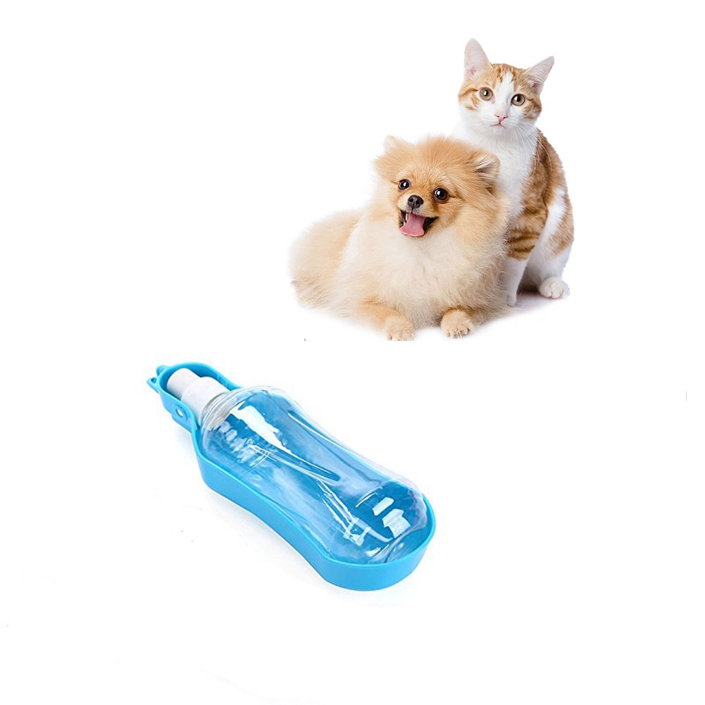 Portable Pet Water Bottle Dispenser for Dog Cat,Compact Travel Folding Bowl with Stand Drinking Feeder for Small Animals with Hanging Buckle Accessory