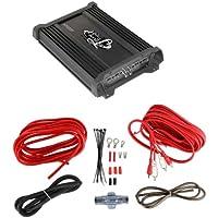 New LANZAR HTG237 1000W 2 Channel Car Audio Power Amplifier + VM 8 Gauge Amp Kit