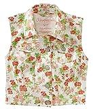 Aeropostale Womens Floral Jean Denim Vest White XS - Juniors