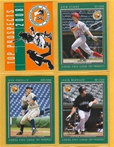 2008 Florida State Top Prospects Detroit Tigers Team Set 2 Cards Rick Porcello Mint