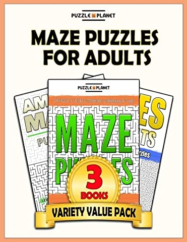 Maze Puzzles For Adults: 140 Moderate To Hard Mazes For Adults (Puzzle Books Value Packs) (Volume 2) - Optical Value Pack
