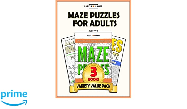 Maze Puzzles For Adults: 140 Moderate To Hard Mazes For Adults ...