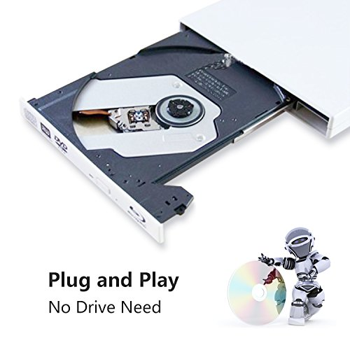External blu-ray disc drive, USB portable DVD burner,BD-ROM,DVD/CD-RW/ROM Writer/Player,Support xp/win/Linux system related desktop, notebook, etc (white) by tengertang (Image #5)
