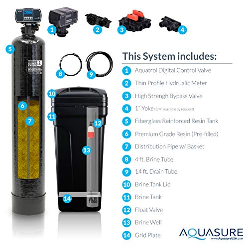 Aquasure Harmony Series 48,000 Grains Water Softener with High Efficiency Digital Metered Control Head (gpm capacity 48,000 Grains/gpm flow rate)