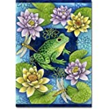 """Frog and Water Lilies - 28"""" x 40"""" Toland Art Banner"""
