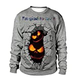 Photno Womens Sweatshirts Pullover Hoodies Halloween Graphic Print Tops Long Sleeve Tees T Shirt Blouse