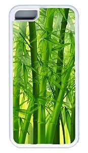 Bamboo DIY Rubber White Best Designed iphone 5C Case