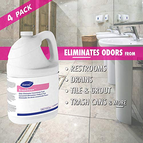 Diversey Breakdown Odor Eliminator - Fresh Scent - 1 Gallon Concentrate, 4 Pack (Packaging May Vary) by Diversey (Image #5)