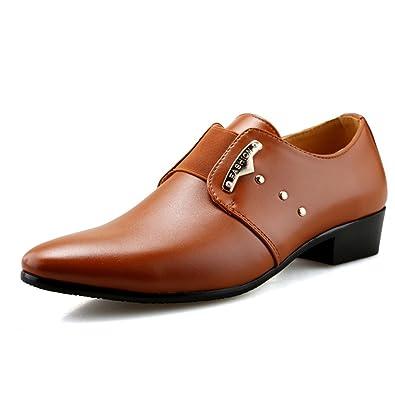 Männer Formale Schuhe PU Leder Elastische Band Kleider Schuhe Büroparty  Hochzeitsschuhe e8d92bb80f