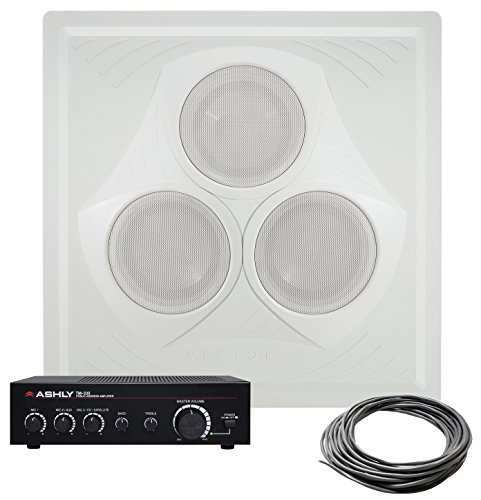 - Pure Resonance Audio VCA8 Vector In-Ceiling Speaker Array Bundle with Ashly Audio TM-335 35 Watt Mixer Amplifier and Speaker Wire - Classroom Sound System (3 Items)