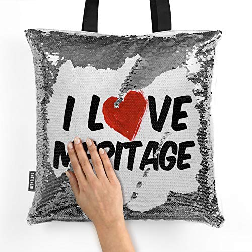 (NEONBLOND Mermaid Tote Handbag I Love Meritage Wine Reversible)