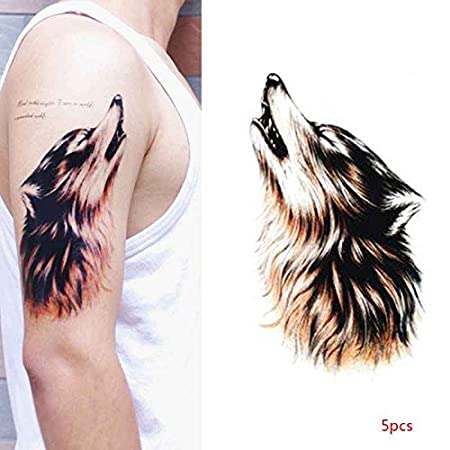 Daindyzzq - Pegatina de Tatuaje Temporal para Hombre con diseño de ...